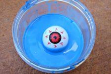 DIY bold blue slime with a large eyeball
