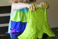 DIY neon green edible slime with no borax