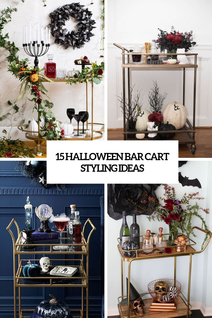 halloween bar cart styling ideas cover