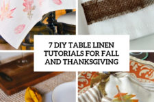 7 diy table linen tutorials for fall and thanksgiving cover