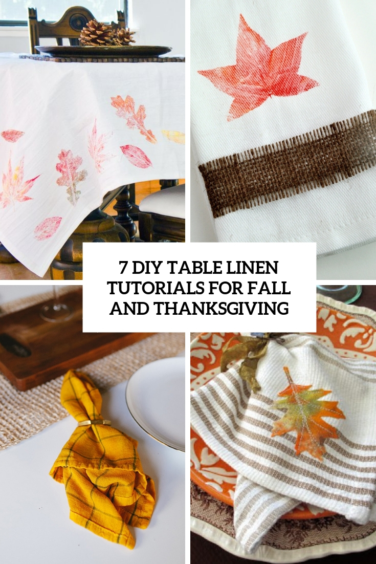 7 DIY Table Linen Tutorials For Fall And Thanksgiving