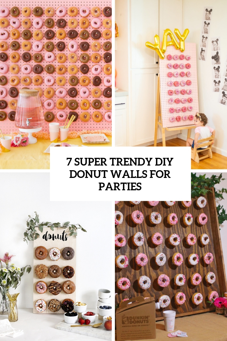 7 Super Trendy DIY Donut Walls For Parties