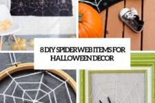 8 diy spiderweb items for halloween decor cover