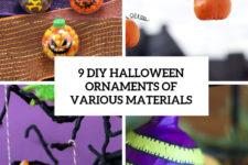 9 diy halloween ornaments of various materials cover