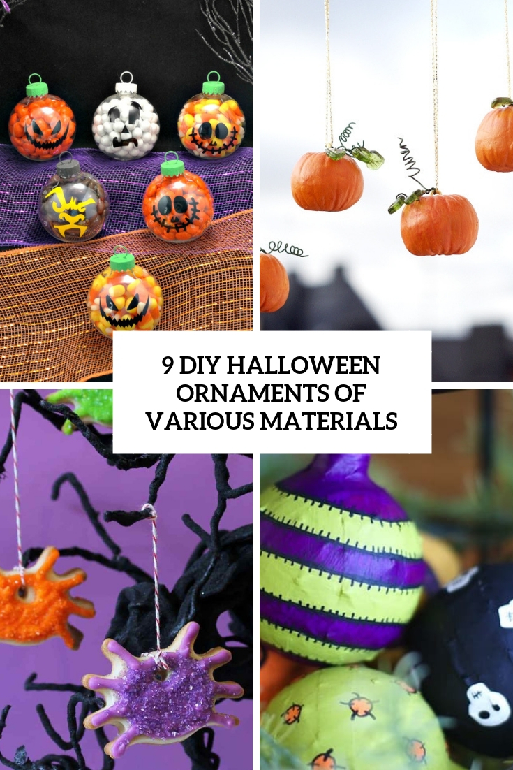 9 DIY Halloween Ornaments Of Various Materials
