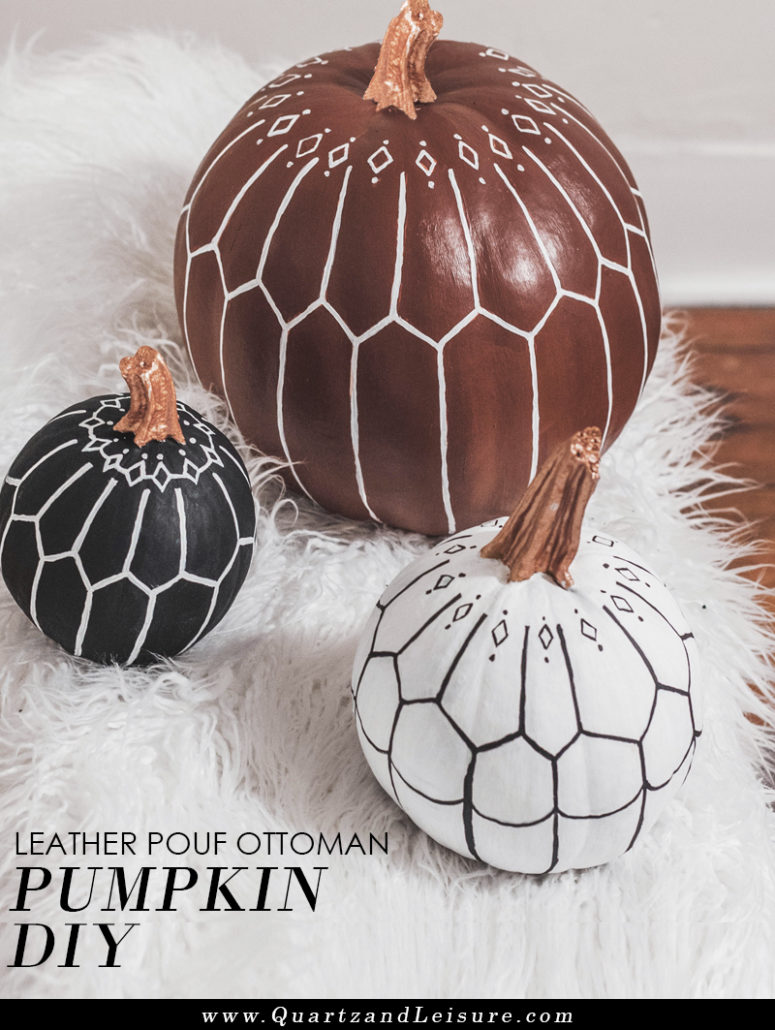 DIY boho pumpkins with Moroccan patterns (via quartzandleisure.com)