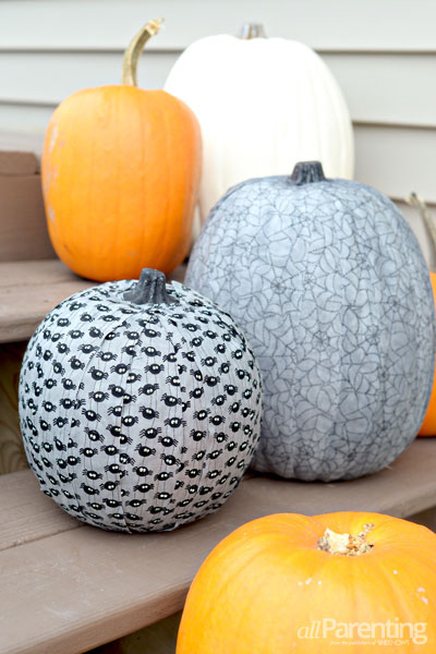 DIY faux pumpkins covered with various kinds of fabric (via allparenting.com)