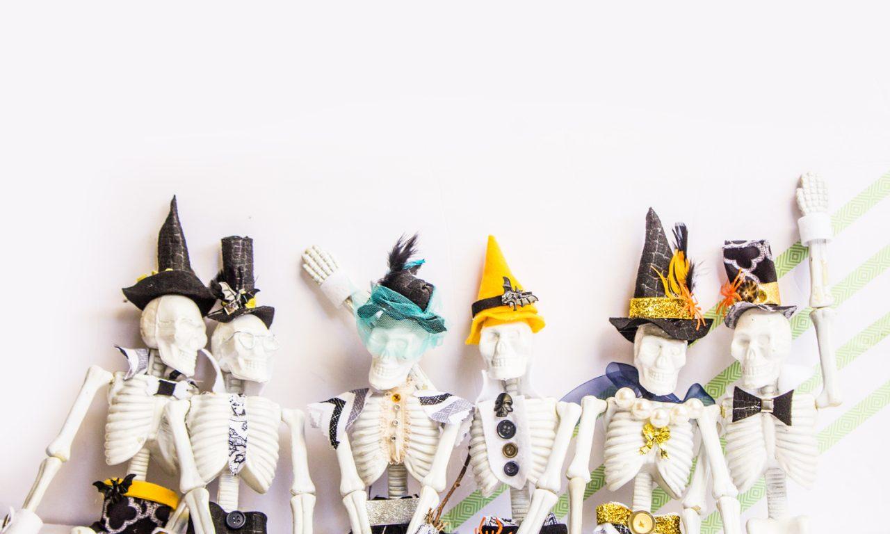 DIY personalized skeleton family