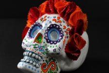 DIY sugar skull decoration for Halloween