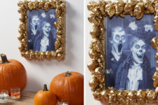 DIY refined and unusual gold skull frame