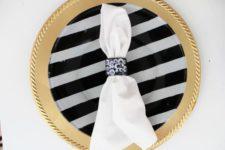 DIY monster eye Halloween napkin ring