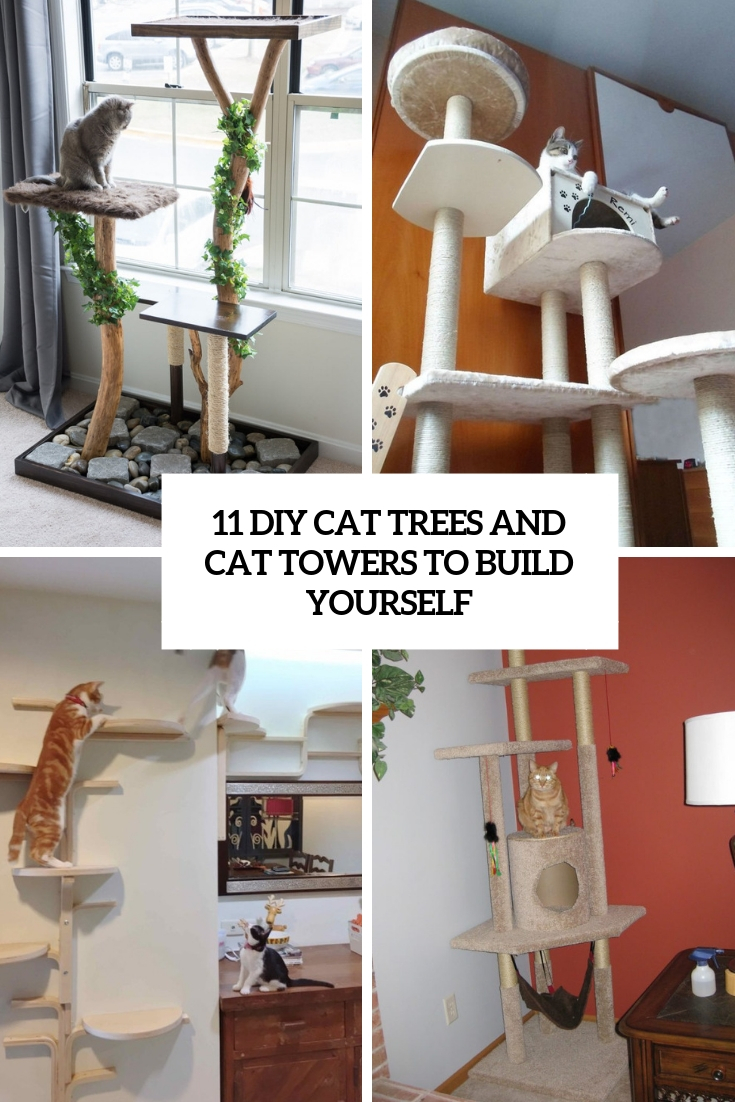 11 DIY Cat Trees And Cat Towers To Build Yourself