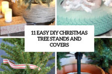 11 easy diy christmas tree stands and covers cover