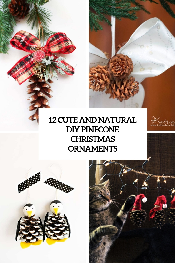 12 Cute And Natural DIY Pinecone Christmas Ornaments