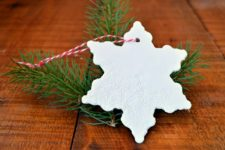 DIY lace embossed clay Christmas ornaments