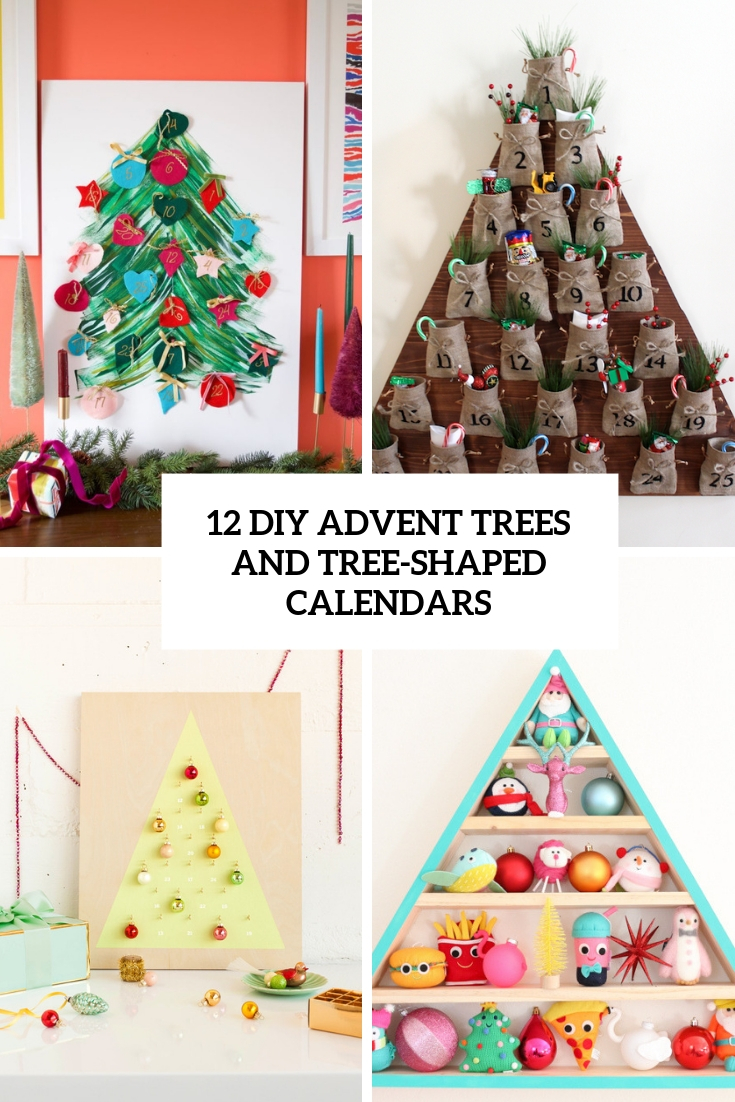 diy advent trees and tree shaped calendars cover