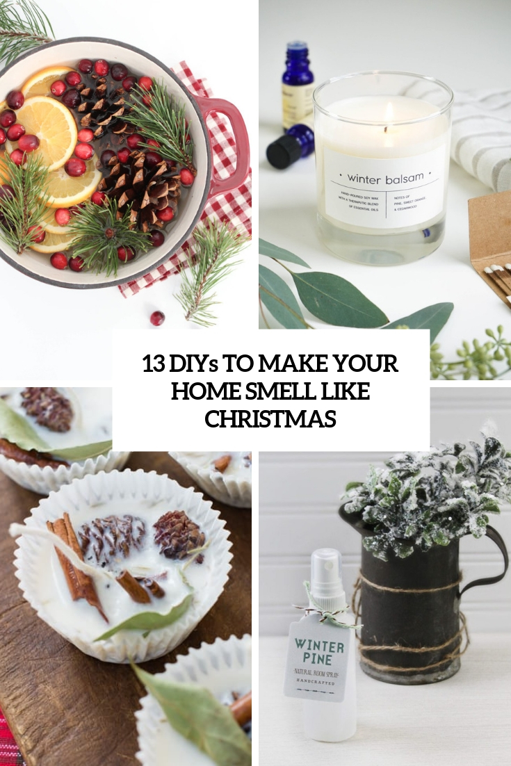 diys to make your home smell like christmas cover