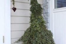 christmas tree in metal base