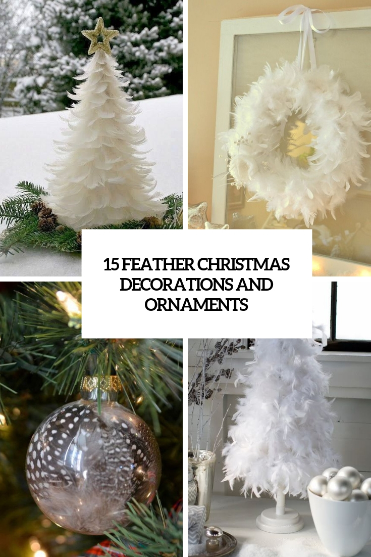 feather christmas decorations and ornaments cover