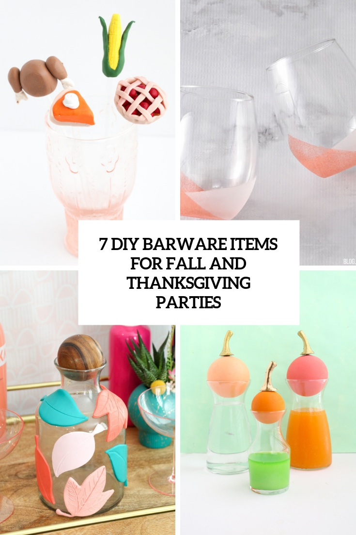 7 DIY Barware Items For Fall And Thanksgiving Parties