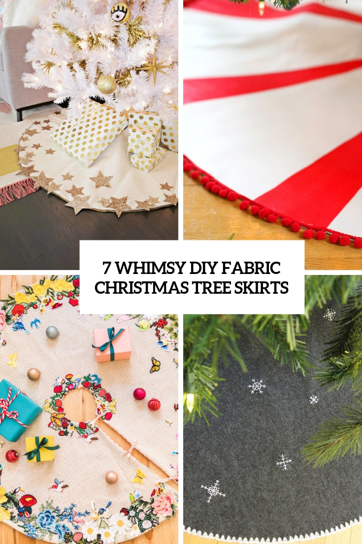 7 whimsy diy fabric christmas tree skirts cover