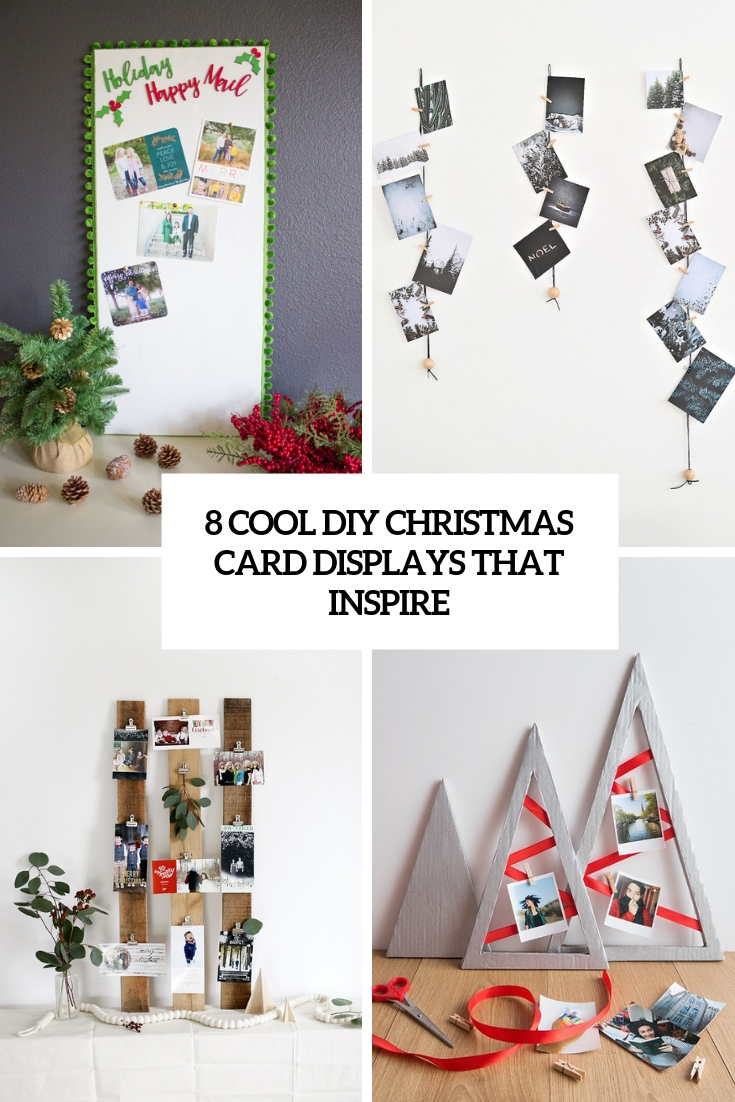 8 Cool DIY Christmas Card Displays That Inspire