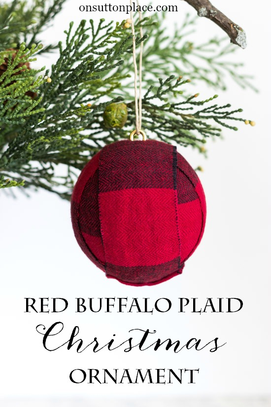 DIY red buffalo Christmas ball ornaments (via www.onsuttonplace.com)