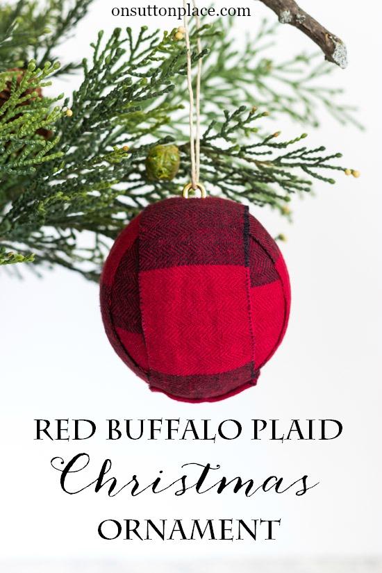 DIY red buffalo Christmas ball ornaments (via www.onsuttonplace.com)