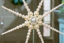 DIY pearl star Christmas tree topper