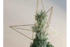 DIY himmeli style star Christmas tree topper