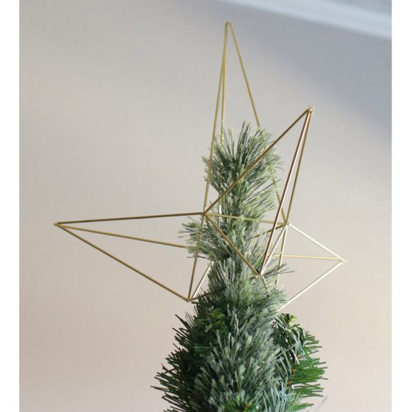 DIY himmeli style star Christmas tree topper