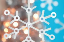 DIY Tetra Pak and reinforcement Christmas snowflakes