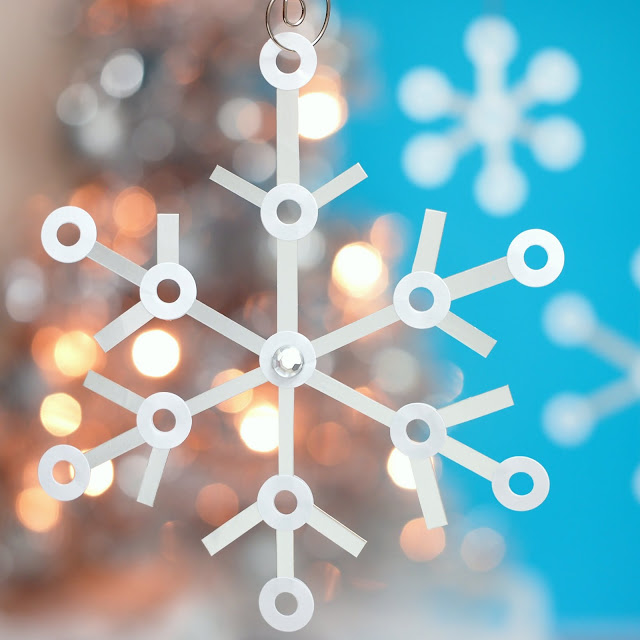 DIY Tetra Pak and reinforcement Christmas snowflakes