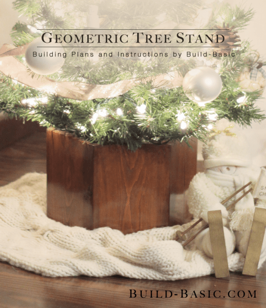 DIY geometric wooden Christmas tree stand (via build-basic.com)