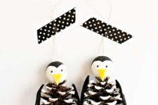 DIY cute penguin ornaments for Christmas