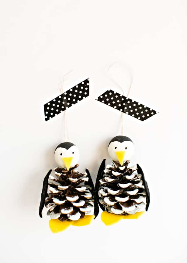 DIY cute penguin ornaments for Christmas (via www.hellowonderful.co)