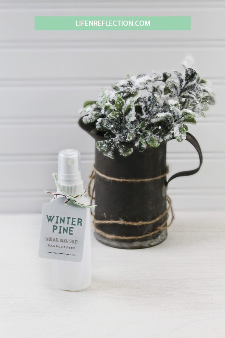 DIY winter pine room spray for Christmas (via life-n-reflection.blogspot.com)