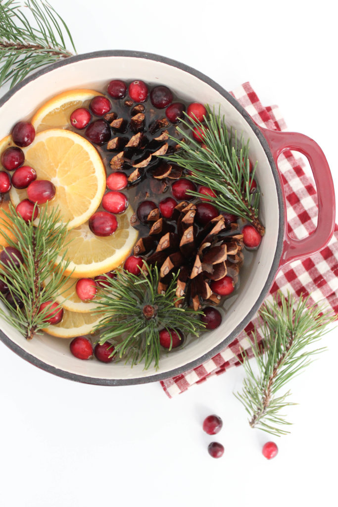 DIY Christmas potpourri of pinecones, oranges, cloves and berries (via letsmingleblog.com)