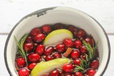 DIY holiday potpourri of fresh fruit and rosemary