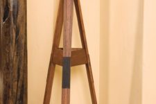 02 a coat rack made of old skis is a great idea to upcycle old skis and get a useful furniture piece