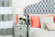 05 a couple of coral pillows and a coral lamp will refresh your bedroom giving it a bit of edge