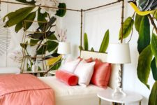 08 a touch of coral will always be to the point ina  tropical bedroom like this one