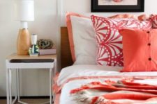 10 refresh your bedroom with bold printed coral linens and make it cheerful, welcoming and fashionable