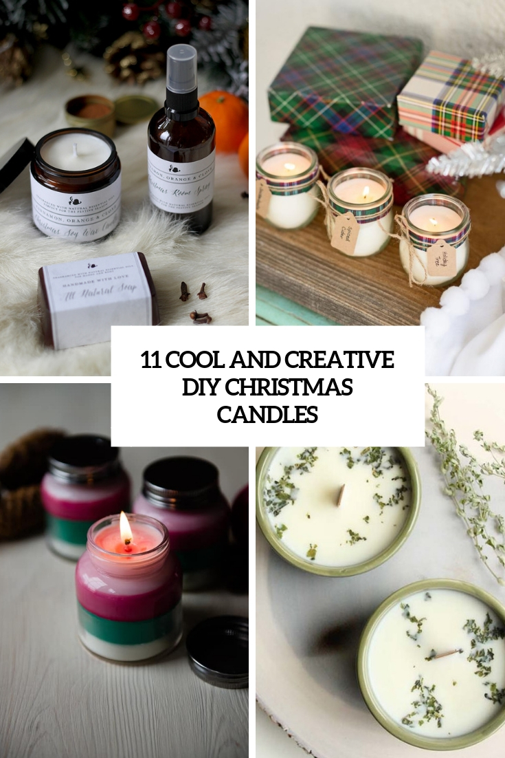 11 Cool And Creative DIY Christmas Candles
