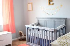 12 a fluffy coral rug and matching curtains are amazing to refresh any neutral nursery to give it a cool look