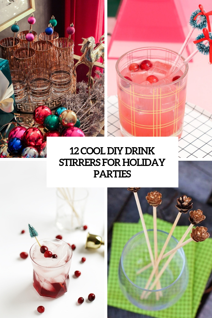 cool diy drink stirrers for holiday parties cover