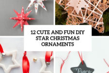 12 cute and fun diy star christmas ornaments cover