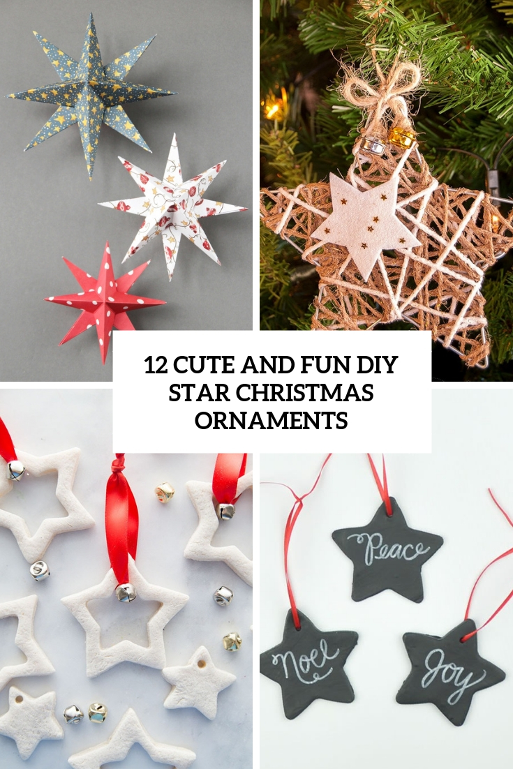 cute and fun diy star christmas ornaments cover