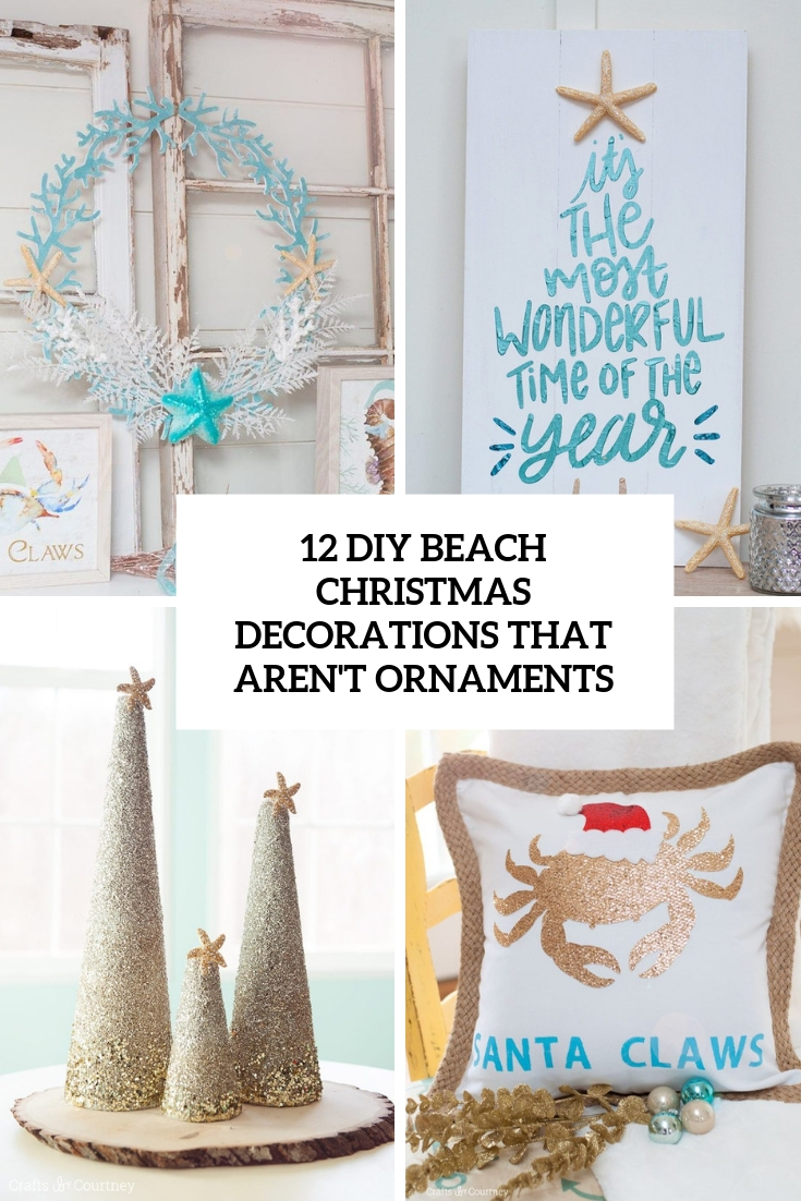 diy beach christmas decorations that aren't ornaments cover