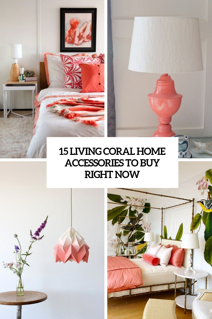 15 Living Coral Home Accessories To Buy Right Now